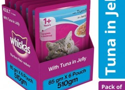 Whiskas (+1 year) Tuna 0.51 kg (6×0.09 kg) Wet Adult Cat Food